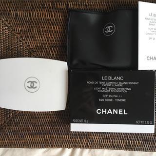 シャネル(CHANEL)のシャネル白コンパクトケース  使用済(ファンデーション)