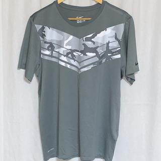 ナイキ(NIKE)の美品 NIKE ナイキ カモフラ 半袖プリントTシャツ ドライフィット (Tシャツ/カットソー(半袖/袖なし))