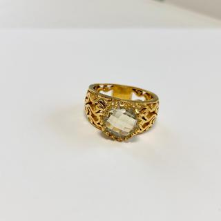 グリーンアメジストのリング♡約16.5号カラーストーンジュエリー(リング(指輪))