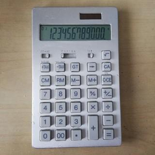 ムジルシリョウヒン(MUJI (無印良品))の無印良品 電卓 BO-192 12桁 アルミ(オフィス用品一般)