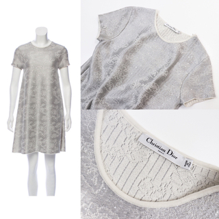 クリスチャンディオール(Christian Dior)の美品 Dior クリスチャンディオール  2016 ジャガード ワンピース(ひざ丈ワンピース)