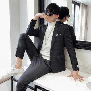 秋冬大人気スリム新作メンズ細身パーティー結婚式セットアップ紳士ビジネスOT018(セットアップ)
