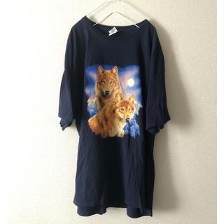 アニマル柄 オーバーサイズ Tシャツ(Tシャツ/カットソー(半袖/袖なし))