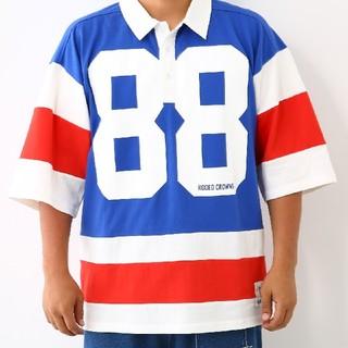 ロデオクラウンズワイドボウル(RODEO CROWNS WIDE BOWL)のRODEO CROWNS✩RCWB✩メンズ88 ビッグ ポロシャツ(Tシャツ/カットソー(半袖/袖なし))