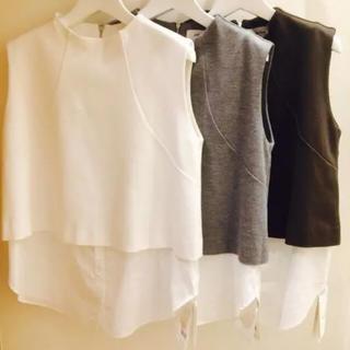 ミラオーウェン(Mila Owen)のミラオーウェン トップス シャツ ドッキング ノースリーブ(カットソー(半袖/袖なし))
