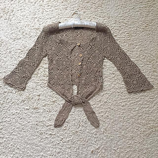 セシルマクビー(CECIL McBEE)のセシルマクビー かぎ針編みボレロ(ボレロ)