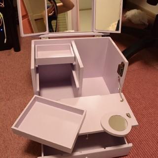 Francfranc - コンパクト ドレッサー 鏡つき コスメ テーブル台 コスメ収納 パステル パープ