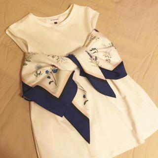 ルシェルブルー(LE CIEL BLEU)のルシェルブルー スカーフタイトップス(カットソー(半袖/袖なし))