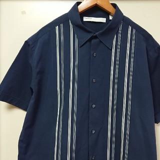 ☆US古着XXLスーパービッグサイズ!ストライプデザインコットンシャツ(シャツ)