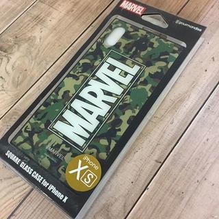 マーベル(MARVEL)のMARVEL iPhoneX/Xs 硬質ガラス素材 スマホケース MV131D(iPhoneケース)