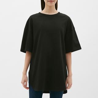 ジーユー(GU)のGU ヘビーウェイトオーバーサイズT(5分袖) 未使用(Tシャツ(長袖/七分))