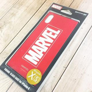 マーベル(MARVEL)のMARVEL iPhoneX/Xs 硬質ガラス素材 スマホケース MV131A(iPhoneケース)