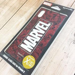 マーベル(MARVEL)のMARVEL iPhoneX/Xs 硬質ガラス素材 スマホケース MV131C(iPhoneケース)