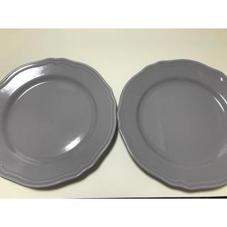 イケア(IKEA)のIKEA 皿 グレー アルヴ 二枚セット(食器)