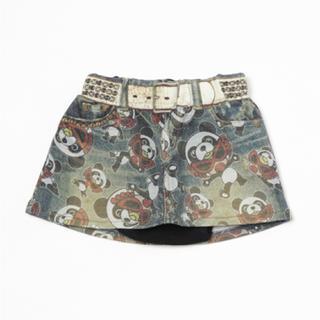 ヒステリックミニ(HYSTERIC MINI)のパンダインパン付きスカート(スカート)