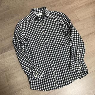 ユニクロ(UNIQLO)のユニクロ  メンズ S ギンガムチェック リネンシャツ(シャツ)