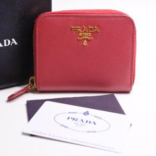 PRADA - PRADA プラダ コインケース 小銭入れ 中古 サフィアーノレザー ピンク