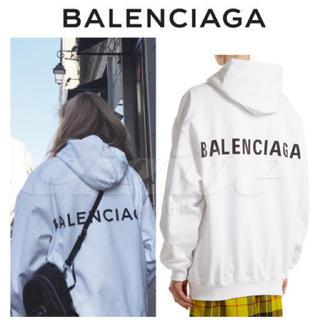 バレンシアガ(Balenciaga)のバレンシアガ パーカー 白 正規品(パーカー)