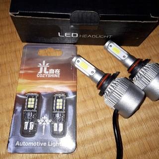 HB3 LED ヘッドライト & t10 LED ポジション セット