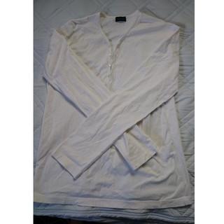 ジョゼフ(JOSEPH)のJoseph Honme ジョセフオム ロンT ホワイト(Tシャツ/カットソー(七分/長袖))