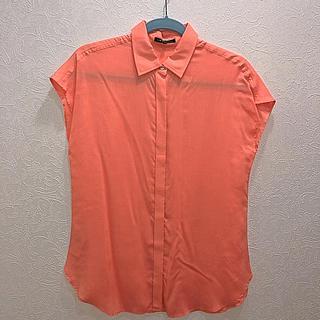 ニジュウサンク(23区)の23区 タグ無し試着のみ オレンジのフレンチシャツ 38(シャツ/ブラウス(半袖/袖なし))