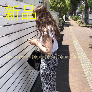 トゥデイフル(TODAYFUL)の新品 フラワープリントスカート 花柄スカート apron skirt(ロングスカート)