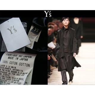 ヨウジヤマモト(Yohji Yamamoto)のY's ワイズ Yohji Yamamoto 山本耀司 コットン シャツ 黒 (シャツ/ブラウス(長袖/七分))