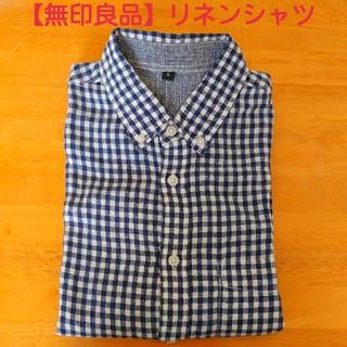 ムジルシリョウヒン(MUJI (無印良品))の【無印良品】リネン100% カジュアルシャツ(シャツ)
