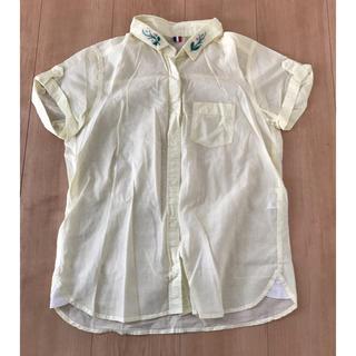 ジーユー(GU)のジーユー 半袖 イエロー シャツ(シャツ/ブラウス(半袖/袖なし))