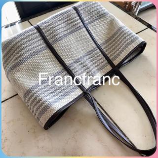 フランフラン(Francfranc)の新品未使用 Francfranc フランフラン カゴバッグ かご/プラステ ザラ(かごバッグ/ストローバッグ)