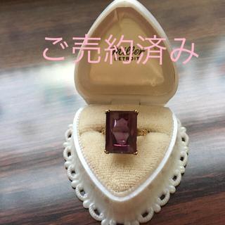 K18 合成サファイアのヴィンテージリング(リング(指輪))