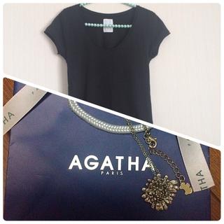 ザラ(ZARA)のゆぅき様専用ページ☆Tシャツ+ネックレス(Tシャツ(半袖/袖なし))