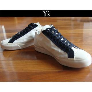 ヨウジヤマモト(Yohji Yamamoto)のY's ワイズ Yohji Yamamoto 山本耀司スニーカー 白×黒(スニーカー)