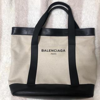 バレンシアガ(Balenciaga)のバレンシアガ キャンバストート ホワイト USED(トートバッグ)