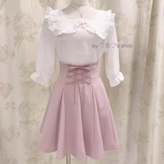 エブリン(evelyn)の着るだけで可愛いレースアップフレアスカート♡ガーリーコーデに♡フェミニンコーデに(ひざ丈スカート)