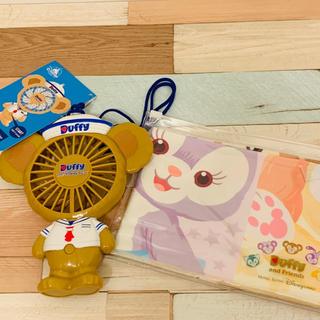 ダッフィー - 【国内発送】香港ディズニー ダッフィー扇風機 クールタオルセット