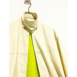 コムデギャルソン(COMME des GARCONS)のvintage usa製 ダービー 黄色 ドリズラージャケット スウィングトップ(ブルゾン)