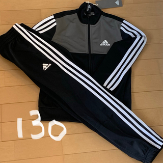 593360a77800b9 アディダス(adidas)のadidas アディダス ジャージ上下セット 黒グレー130サイズ 新品未