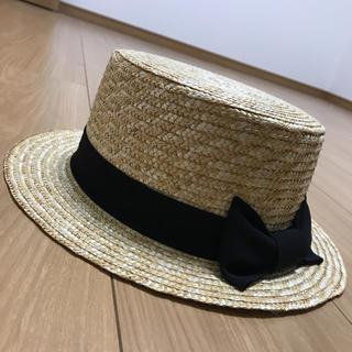 エイチアンドエム(H&M)のH&M 麦わら帽子 ハット カンカン帽(麦わら帽子/ストローハット)