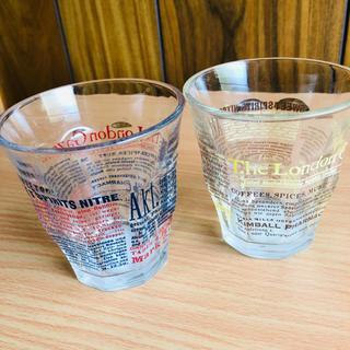 ガラスコップ セット 英字(グラス/カップ)