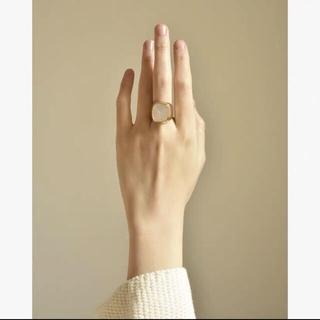 マルタンマルジェラ(Maison Martin Margiela)の新作♡  シグネットリング24k 巾着付き  大理石(リング(指輪))