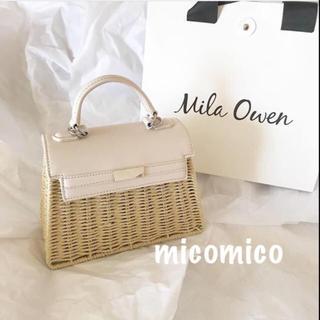 ミラオーウェン(Mila Owen)の❤️完売品❤️ ミラオーウェン ハンド&ショルダーかごバッグ かごバック 白色(かごバッグ/ストローバッグ)