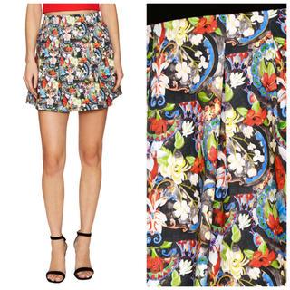 アリスアンドオリビア(Alice+Olivia)のalice+oliva フローラルプリント スカート(ミニスカート)