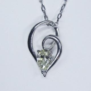 最終価格※PT天然ダイヤモンド0.31カラットデザインペンダント(ネックレス)