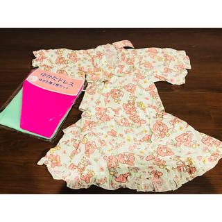 マイメロディ(マイメロディ)の即完売品 新品 浴衣 甚平 3点セット 浴衣ドレス + 2枚帯 セット(甚平/浴衣)