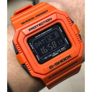 ジーショック(G-SHOCK)のG-SHOCK/レスキュー/オレンジ/DW-D5500/反転液晶/スクエア/美品(腕時計(デジタル))