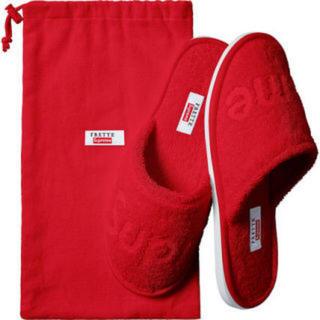 シュプリーム(Supreme)のSupreme Slippers Red 8-10 26-28cm スリッパ(スリッパ/ルームシューズ)