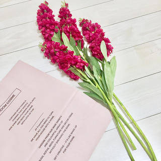 フランフラン(Francfranc)の新品 フランフラン アートフラワー 花束 ストック 4本セット インテリア(その他)