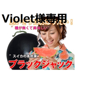 Violet様専用 ②最高級・最高品質のスイカ【ブラックジャック】(フルーツ)