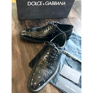 ドルチェアンドガッバーナ(DOLCE&GABBANA)の☆ドルチェ&ガッバーナ ラインストーン シューズ 37(ローファー/革靴)